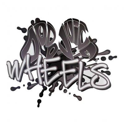 WHEELS sticker voor emmer (universeel)