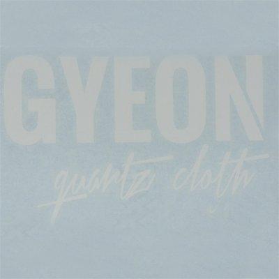 Gyeon Logo sticker wit - 8.5x6cm