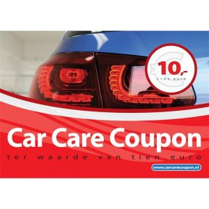 Car Care Coupon - Rood - € 10,-