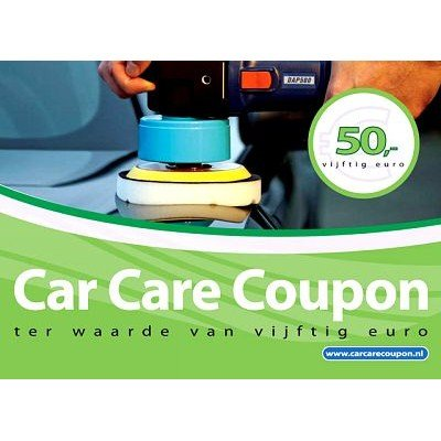 Car Care Coupon - Groen - € 50,-