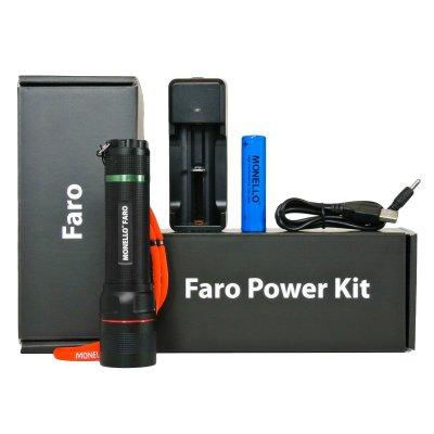 Faro - LED Zoombare Inspectielamp + 2400 mAh Li-Ion Accu