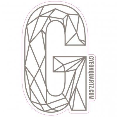G Sticker  Zilver - 419x270mm