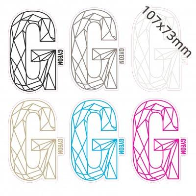G Sticker - 107x73mm