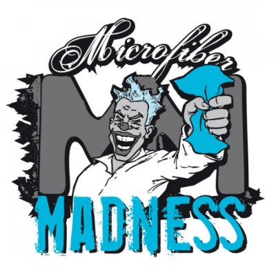 Microfiber Madness Vinyl Sticker - 20x19cm