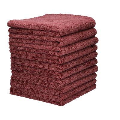 Allround Microfiber Towel Soft Bordeaux 10-pack - 40x40cm