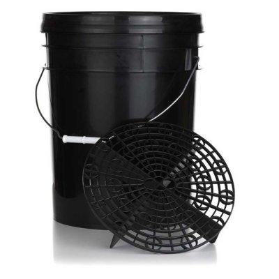 Detailing Bucket met grit guard en deksel - 15 liter