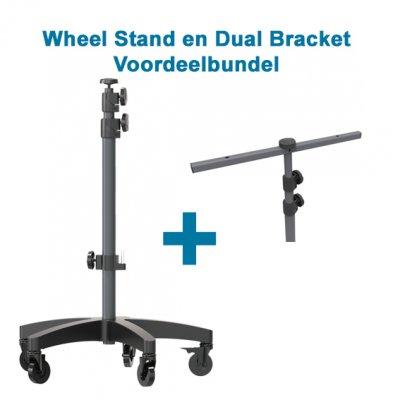 Wheel Stand met Dual Bracket Bundel