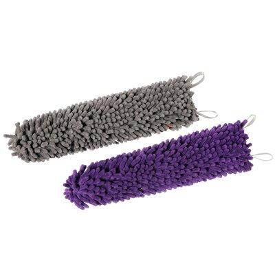 Brush Cover 2-pack Grey & Purple